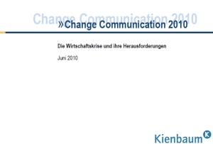 Kienbaum Change Communication Studie 2010